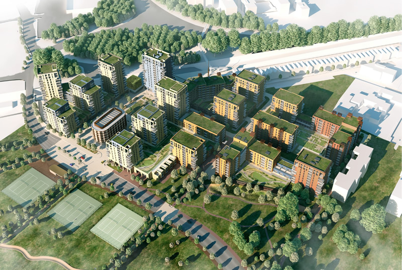 Urban regeneration at Kidbrooke Village in London