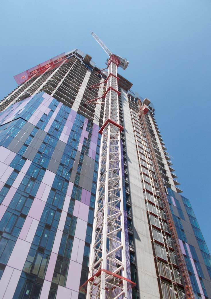 Cladding for the iconic Saffron Square tower